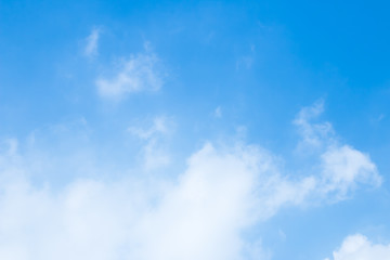 Blue sky, clouds and sunlight background