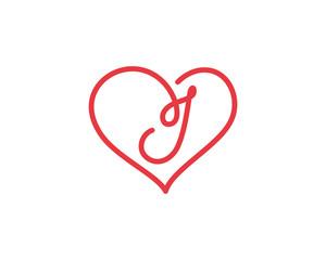 Letter I and heart logo 1