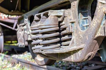 Railroad car spring