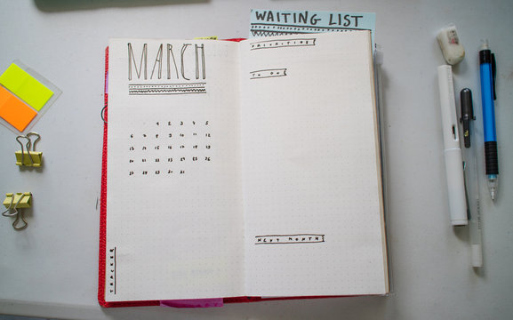 March - planning my month