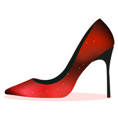 Red shiny heel
