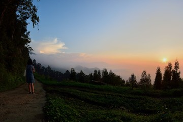 Sunset on mountain in Hsinchu,Taiwan.