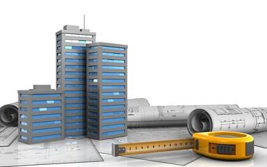 3d of city buildings
