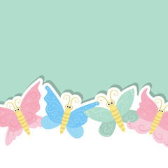 Greeting card with cute butterflies.