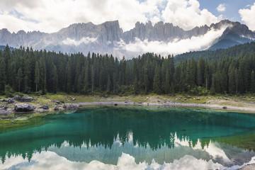 Carezza lake, Bolzano province - Trentino Alto Adige, Italy.