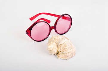 Sunglasses and shell
