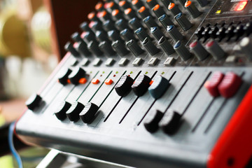 Mixer sound.