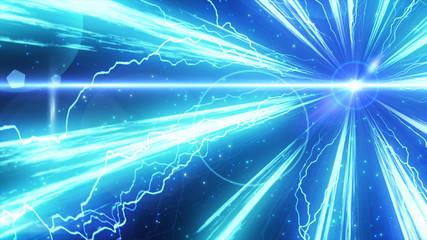 光線とパーティクルのイメージ 稲妻