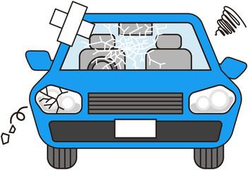 故障した車(ブルー)