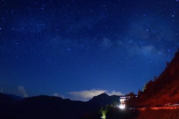 Milky Way on mountain,in the Taiwan.