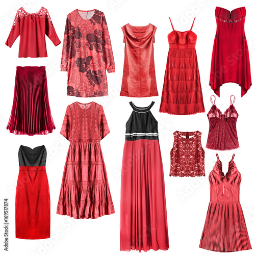 aa5e790d83e Red clothes isolated