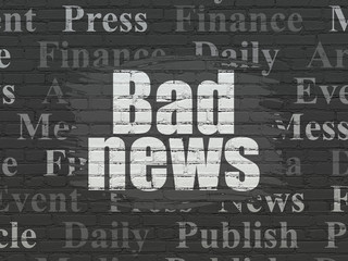 News concept: Bad News on wall background
