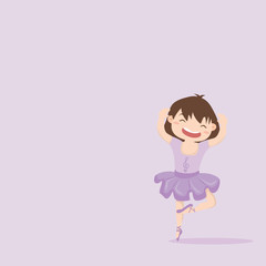 little girl cute ballerina