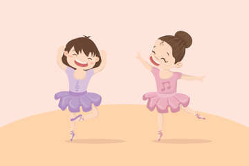 little girl cute ballerinas in two colors