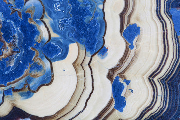 Cross section of abstract blue fantasy wurtzite mineral