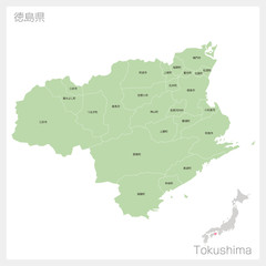 徳島県の地図