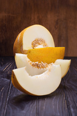 raw yellow melon