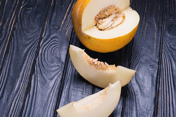 raw yellow melon
