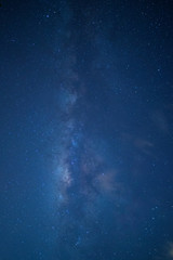 Milky way galaxy with stars.