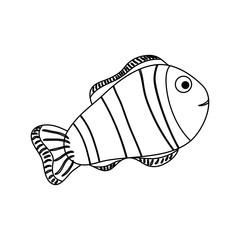 Clown fish animal icon vector illustration graphic design