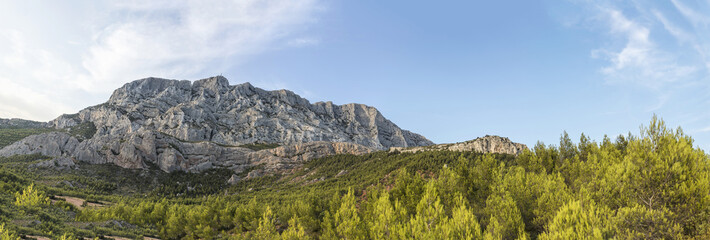 mount sainte-victoire in the provence, the Cezanne mountain