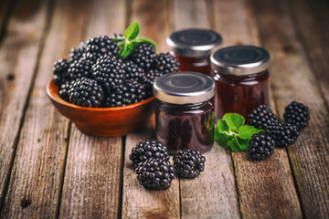 Tasty blackberry jam