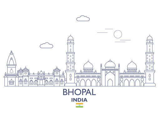 Bhopal City Skyline, India