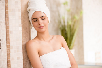 woman relaxing after spa