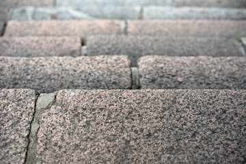 Background of a step of a granite ladder
