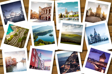Bucket list destinations Fototapete