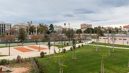 Panoramic view of Valencia, Spain