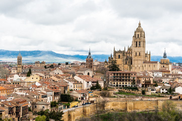 Old Town of Segovia, Spain. UNESCO World Heritage Site