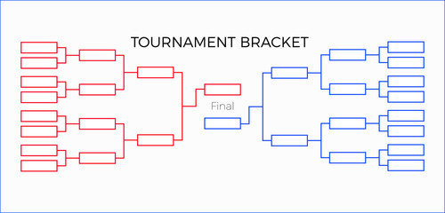 tournament bracket vector