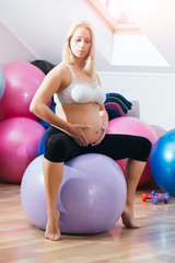 Prenatal fitness, yoga and healthy lifestyle