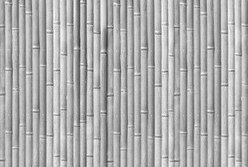 White bamboo fence pattern and seamless background