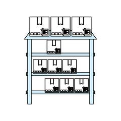 metallic shelf isolated