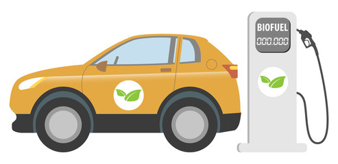 Biofuel car vector illustration
