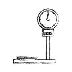 Cargo weight balance icon vector illustration graphic design