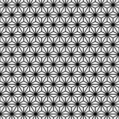 Retro Seamless Pattern Stars Black/White
