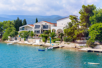 Hotels and other houses at the coast of Croatia