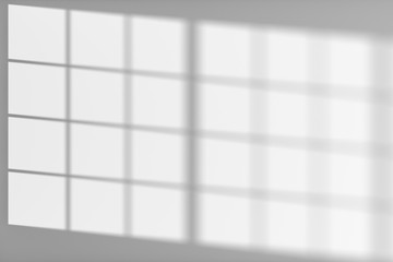 White wall with sunlight from window