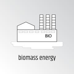 Vector illustration of biomass energy.