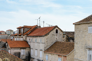 Houses in the Historic City of Trogir, Croatia. UNESCO WOrld Heritage Site