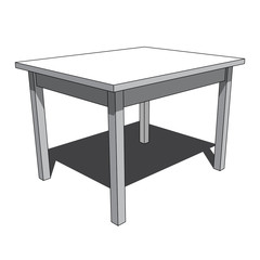 3D image - simple isolated desk illustration