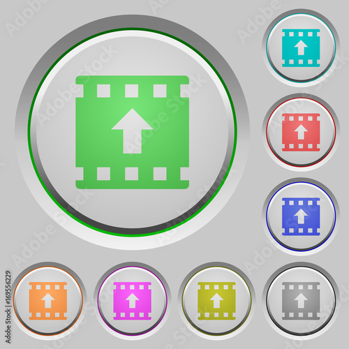 Move Up Movie Push Buttons Stock Image And Royalty Free Vector