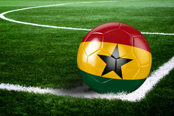 Ghana Soccer Ball on Field at Night