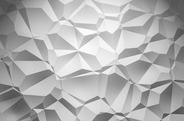 3D Illustration - white brilliant triangle pattern Background 2