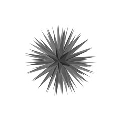 Abstract 3d crystal.Isolated on white background.Vector illustration.