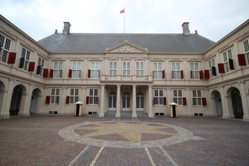Royal palace Noordeinde in The Hague, the netherlands which is the working palace of King Willem Alexander and Queen Maxima