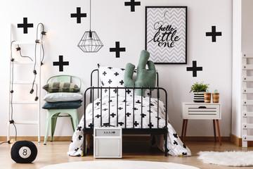 Cactus pillow in kid's bed